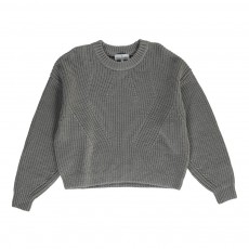 Pull Grosse Maille Vato Gris
