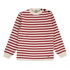 Pull Marin Rayé Fouesnant Rouge