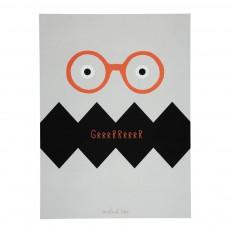Poster Monstre Gris clair