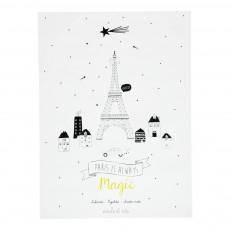 Poster Paris Blanc
