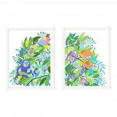"""Affiche dyptique """"Maroola"""" edition limitée 50x65 cm Little Cabari x Les Petits Collectionneurs Multicolore"""
