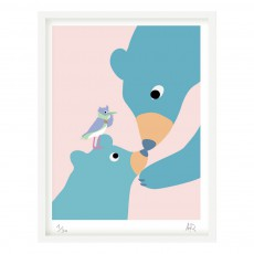 Affiche ours 30x40 cm Multicolore