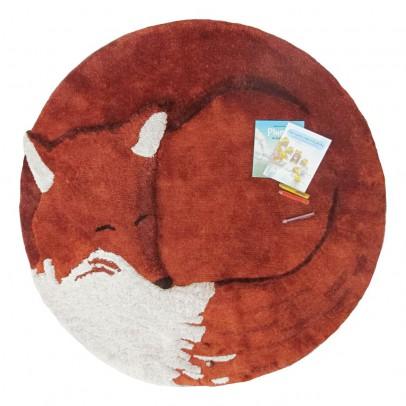 Tapis renard tilky brun little cabari d coration smallable for Decoration renard