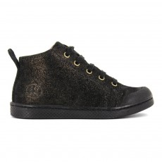 Baskets Mid à Lacets Zip Mascara Noir