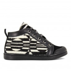 Baskets Mid à Lacets Zip Hair Noir