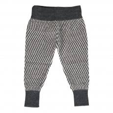 Pantalon Chevron Merino Bio Morgan Gris chiné