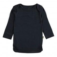T-shirt Manches Longues Merino Bio Gris charbon