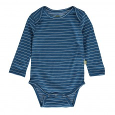 Body Manches Longues Rayé Merino Bio Bleu marine
