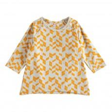T-Shirt Imprimés Géométriques Celeste Orange