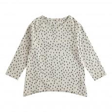 T-Shirt Pois Celeste Ecru