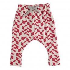 Pantalon Imprimés Géométriques Kaka Rouge brique