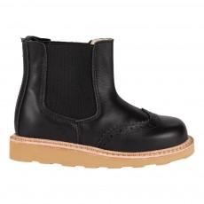 Boots Chealsea Cuir Francis Noir