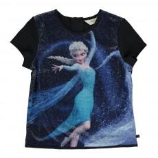 T-shirt Sequins Reine Des Neiges Tracy Noir