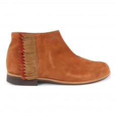 Bottines à Franges Ingrid Camel