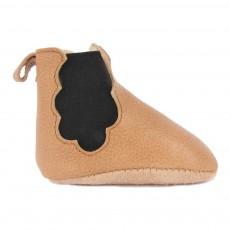 Chaussons Cuir Fourrés Chelsea Boots Cloud Camel