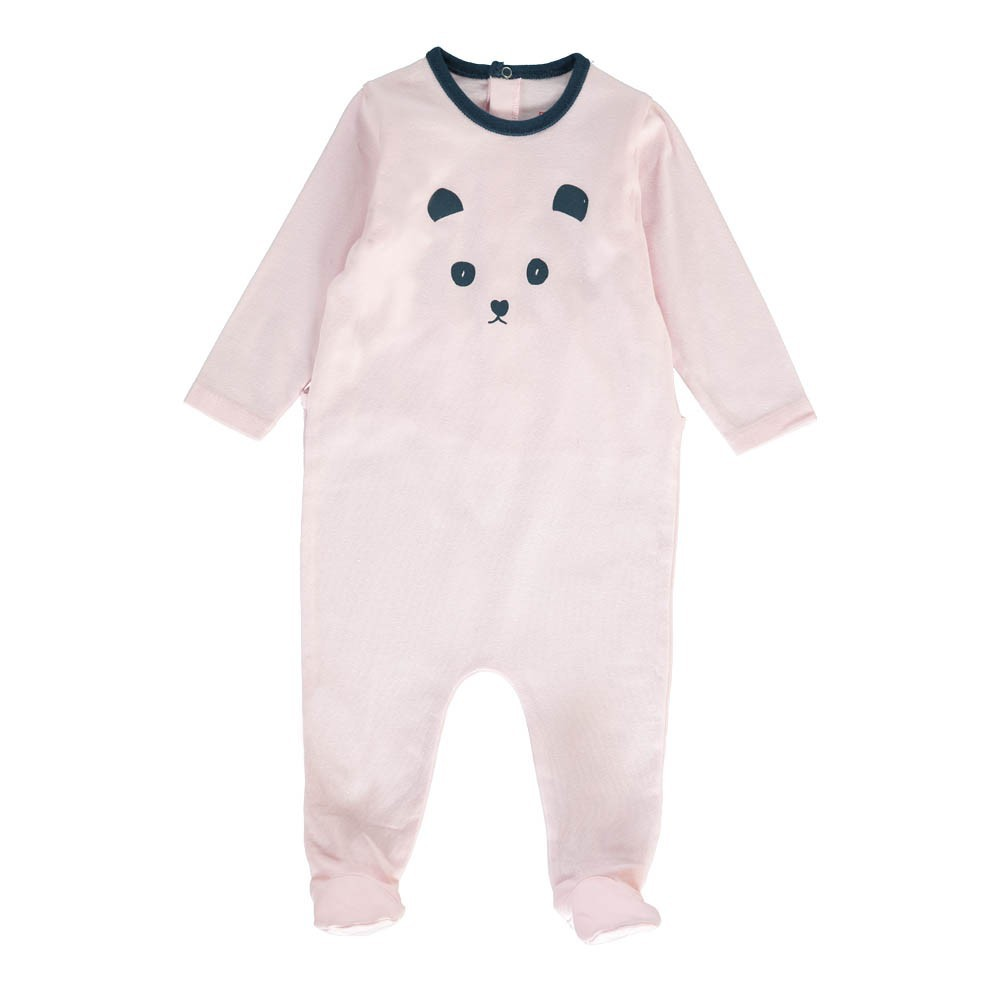 Pyjama panda rose p le bonton mode b b smallable - Combinaison rose pale ...