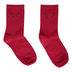 Chaussettes Panda Rouge framboise