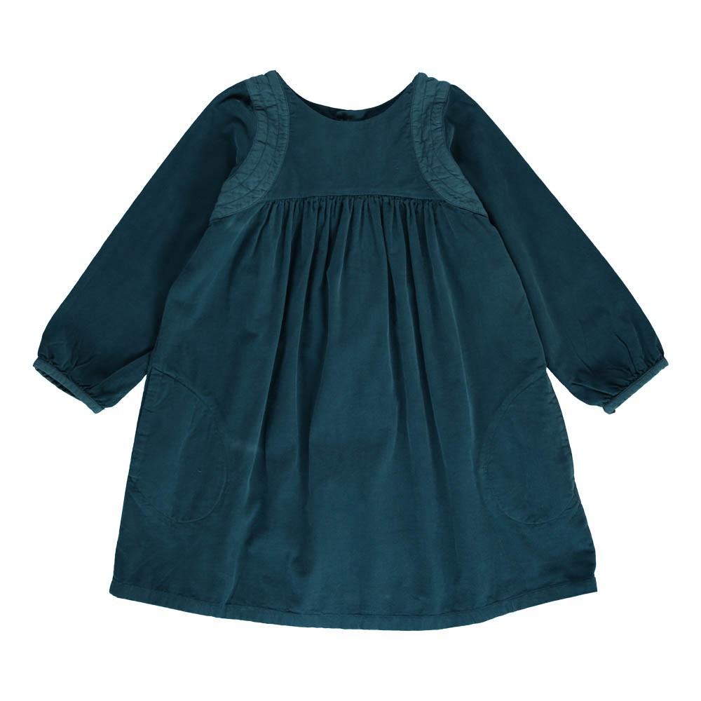 robe velours gouter bleu p trole bonton mode enfant smallable. Black Bedroom Furniture Sets. Home Design Ideas