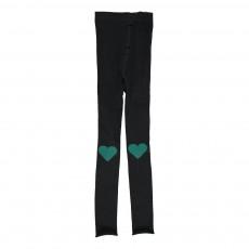 Collants Legging Cœur  Noir