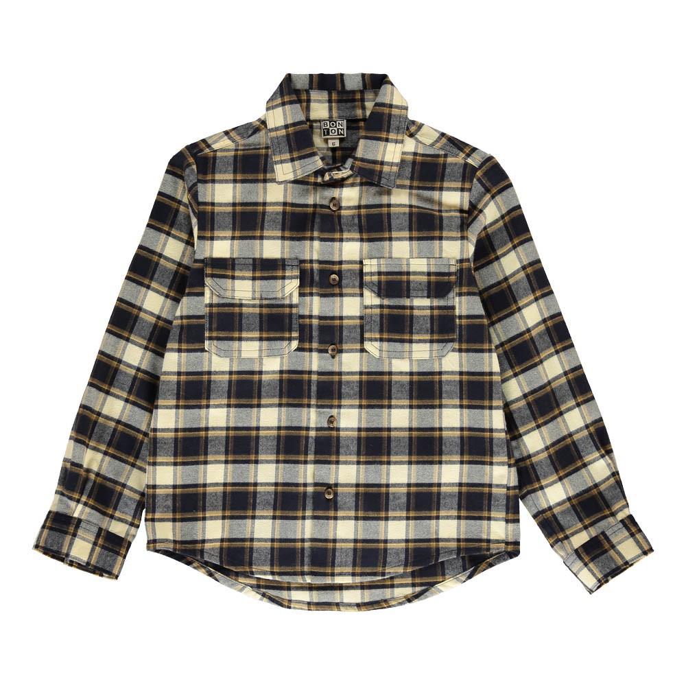 chemise carreaux poches garage bleu marine bonton mode enfant smallable. Black Bedroom Furniture Sets. Home Design Ideas