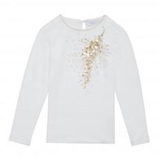 T-shirt Sequins Blanc