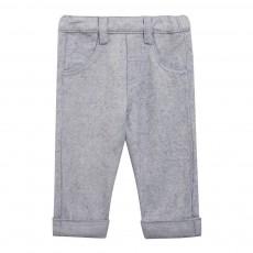 Pantalon Style Denim Bleu jean
