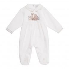 Pyjama Pieds Animaux Blanc