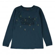 T-Shirt Pois Rayures Bleu pétrole
