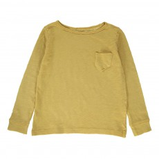 T-Shirt Manches Longues Poche Ocre