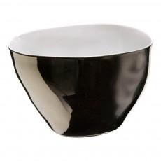 Saladier Grand bol Affamé porcelaine platine Argenté