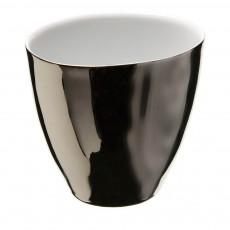 Tasses Assoiffées en porcelaine platine - Vendues par 2 Argenté
