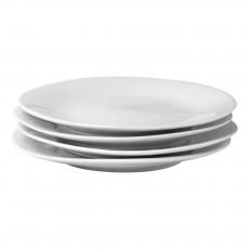 Assiettes plates 24 cm Affamées en porcelaine - vendues par 6 Blanc