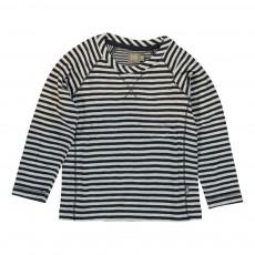 T-shirt Rayé Sean Coton Bio Bleu marine