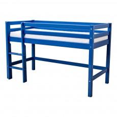Lit mezzanine-bas Basic avec échelle 70x160 cm Bleu