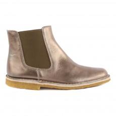 Boots Irisées Bronze