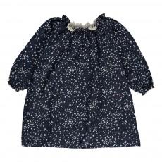 Robe Etoiles Smock Bleu marine