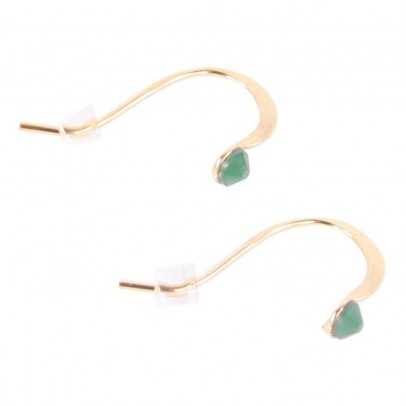 Crystal Stud Earrings Emerald green