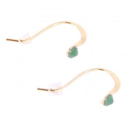 Crystal Stud Earrings Emerald green
