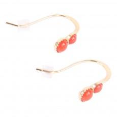 Boucles d'oreilles Twin  Rouge