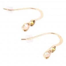 Boucles d'oreilles Twin Doré
