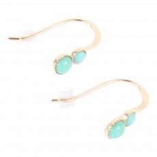 Boucles d'oreilles Twin Bleu turquoise
