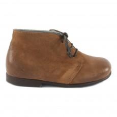 Desert Boots Cuir Patiné Camel