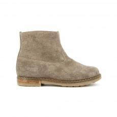 Bottines Velours Trip Taupe