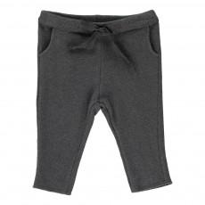 Pantalon Lien Lurex Gris foncé