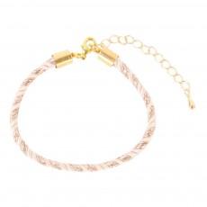 Bracelet Tressé Nori Rose poudré