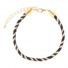 Bracelet Tressé Nori Noir