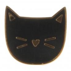 Pins Tête Chat Margot Noir