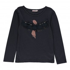 T-shirt Oiseau Plumes Gris anthracite