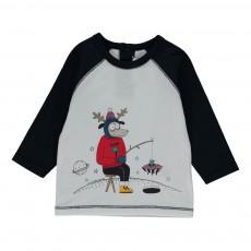 T-shirt Bicolore Cerf Blanc