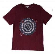T-shirt Fléchettes Bordeaux